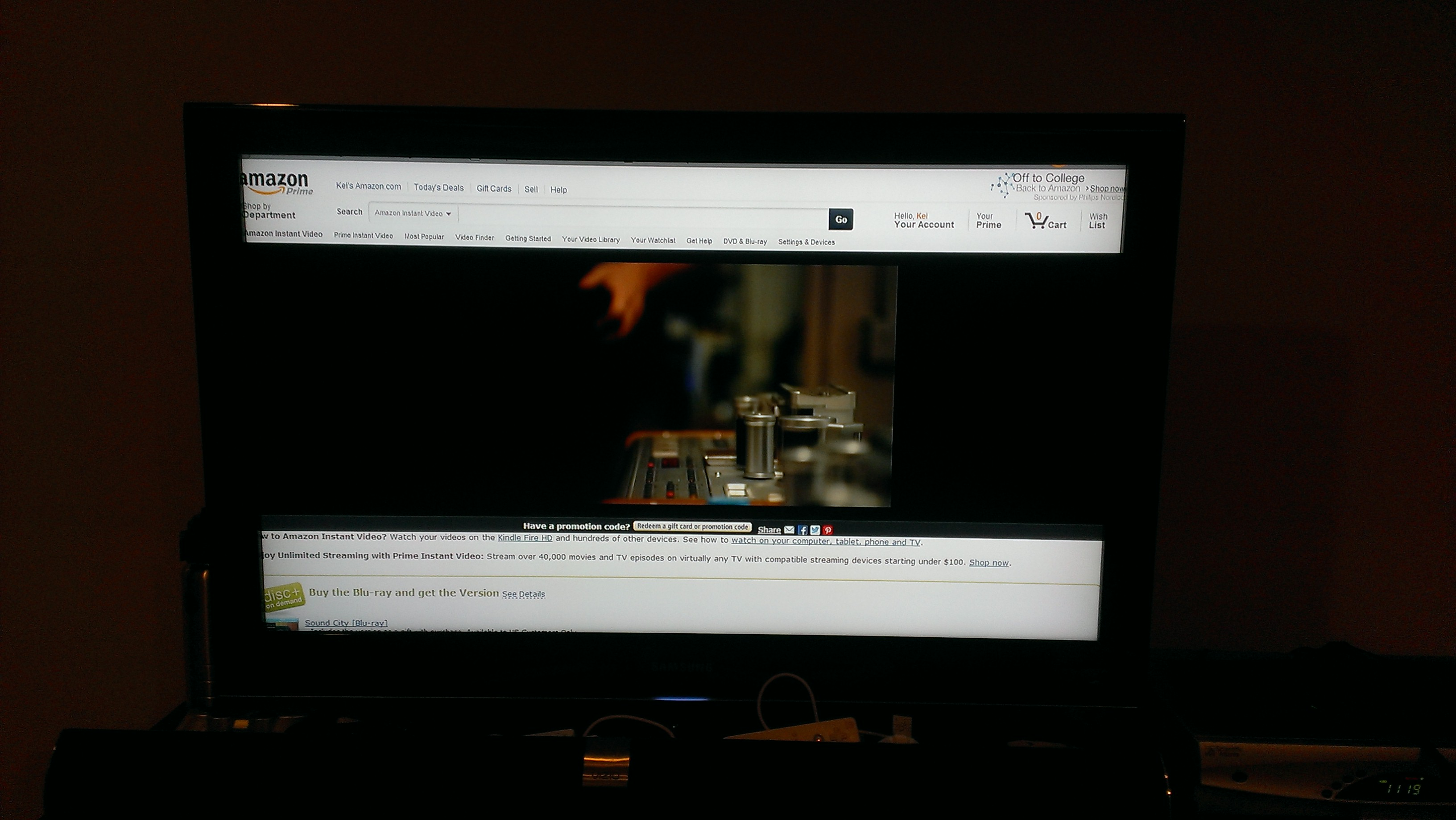 chromecast amazon prime tv screenshot