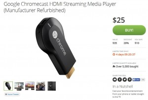 groupon chromecast