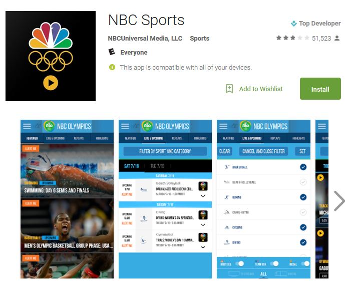 android nbc sports app
